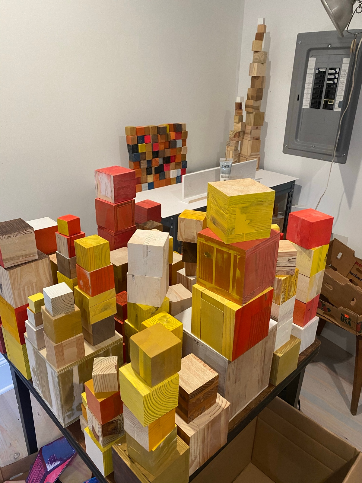 Moving cubes to thewall